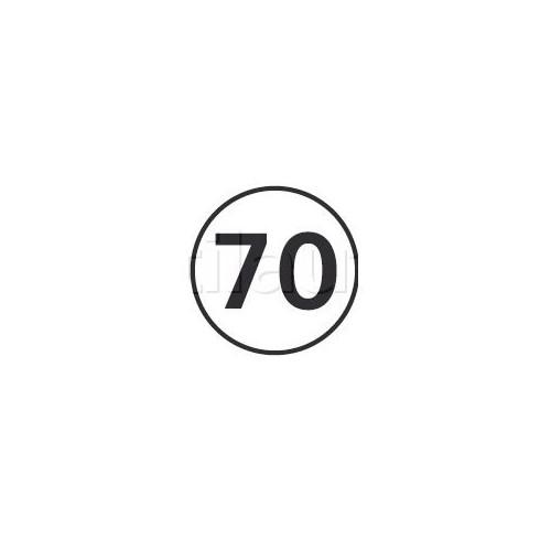 Disques limitation de vitesse 70 KM/H