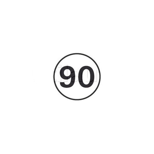 Disques limitation de vitesse 90 KM/H