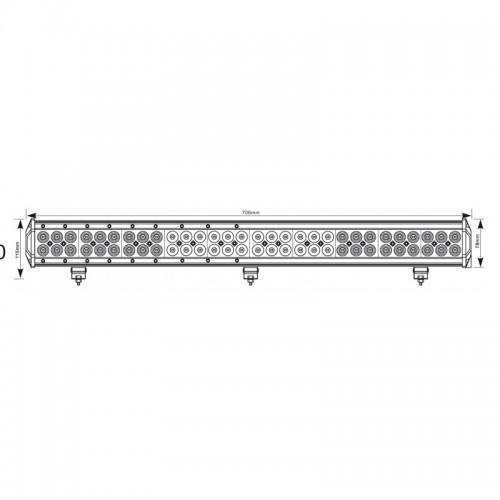 Rampe LED 180W 715mm moro LB0035M