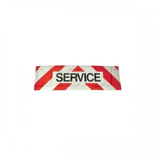 Panneau SERVICE magnétique pour véhicules d'intervention 500x150