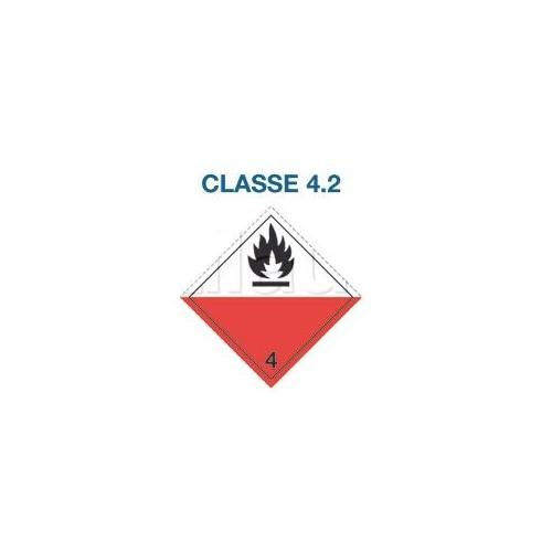 Symboles matières dangereuses 300 x 300 CL.4.2 BL/RG