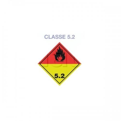 Symboles matières dangereuses 300 x 300 CL.5.2 JAUNE