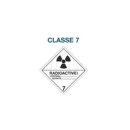 Symboles matières dangereuses 300 x 300 CL. 7 RAD I