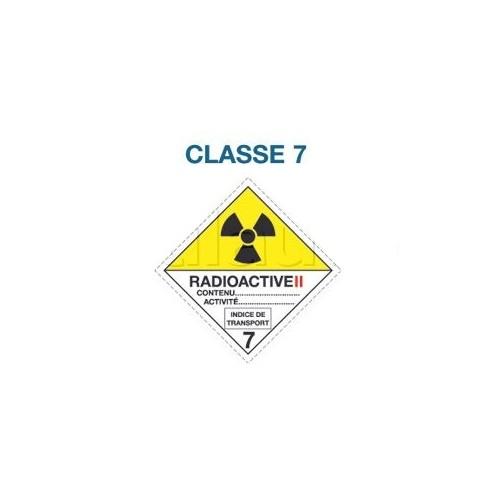 Symboles matières dangereuses 300 x 300 CL. 7 RAD II