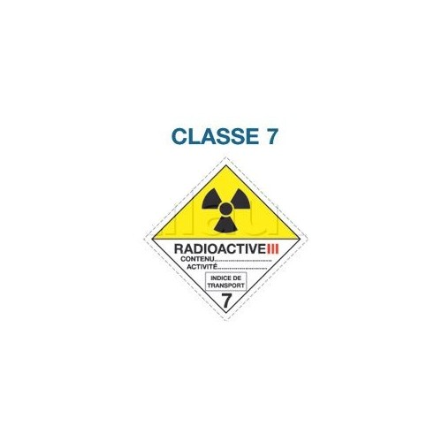 Symboles matières dangereuses 300 x 300 CL. 7 RAD III