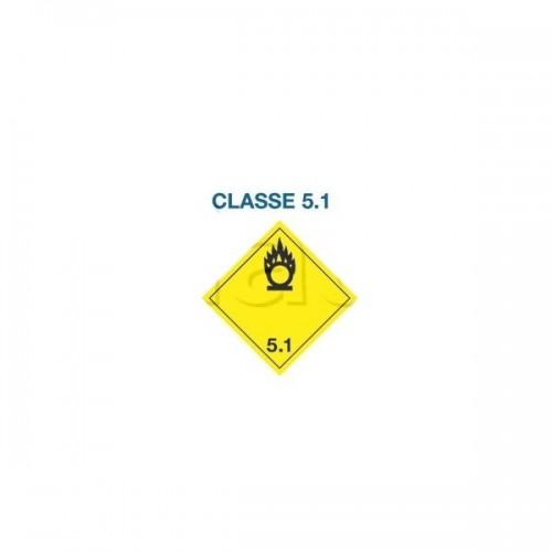 Symboles matières dangereuses 300 x 300 CL.5.1 JAUNE