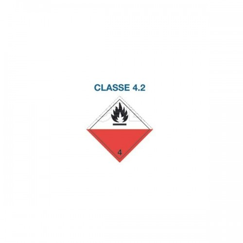 Symboles matières dangereuses 300 x 300 Classe 4.2
