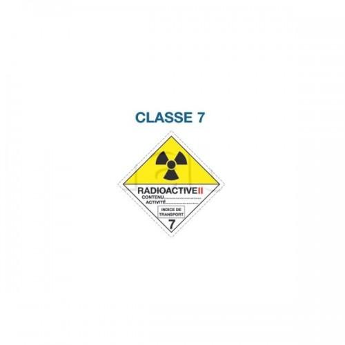 Symboles matières dangereuses 300 x 300 Classe 7