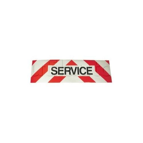 Panneau SERVICE adhésif pour véhicules d'intervention Classe 1 500x150