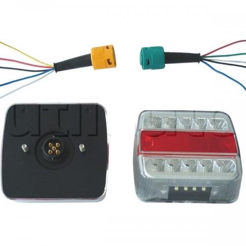 Feu de remorque légère à Leds avec connecteur 5 broches intégré - 12 Volts - 105 x 98 x 35 mm