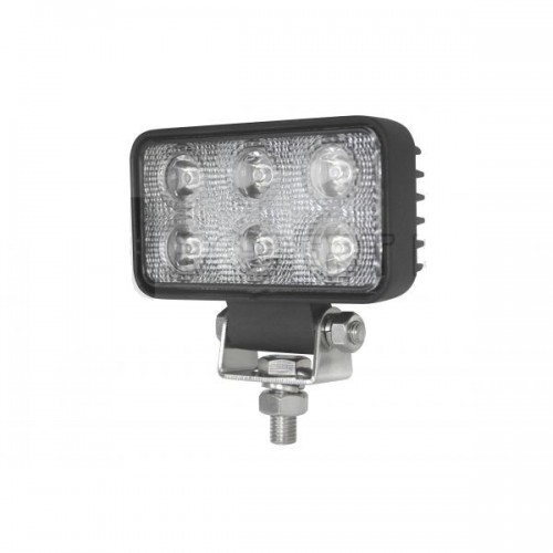 Phare de travail 6 Leds OSRAM - 10/30 volts - L 112 x H 92 x Ep 38 mm - IP67/IP69K réctangle