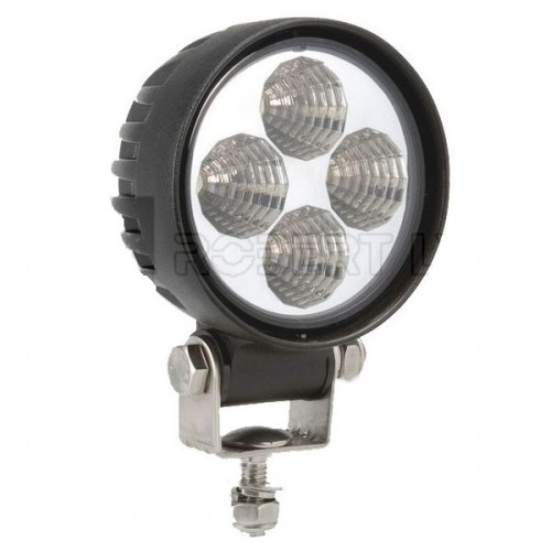 Phare de travail rond 4 Leds - 12/24 volts - ø 84 x H 111 x Ep 65 mm - IP68
