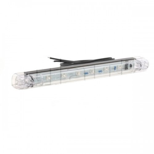 Feu stop additionnel 6 Leds - 12/24 Volts - 237 x 21 x 25 mm - IP68