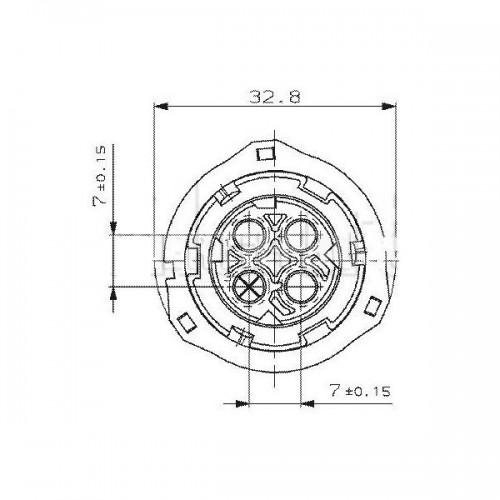 Connecteurs femelles AMP 2 à 7 contacts - DIN 72585 7 CONTACTS