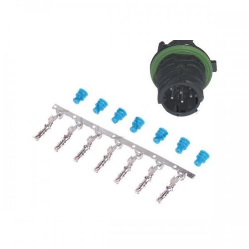 Kit connecteur mâle type AMP 7 contacts - DIN 72585
