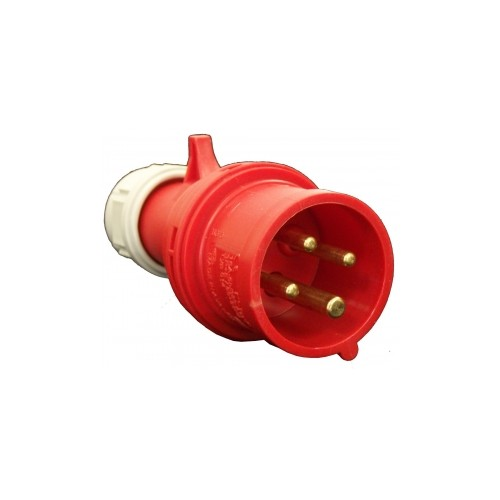 FICHE GROUPE FROID MALE 32A/400V-4 POLES-ROUGE