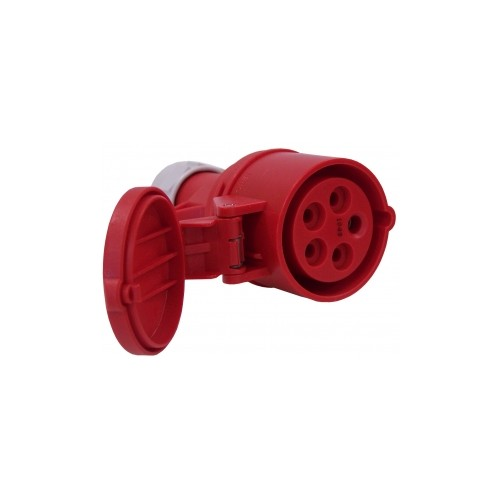 FICHE GROUPE FROID MOBILE-FEMELLE 32A/400V-5 POLES-ROUGE
