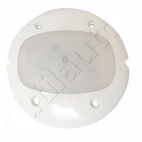 Plafonnier 4 Leds avec interrupteur - A poser - ø 132 x Ep 15 mm - IP67