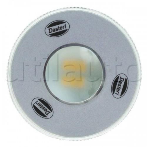 Plafonnier 1 Led - A encastrer - 12 ou 24 Volts - ø 70 mm ROND LED 24V