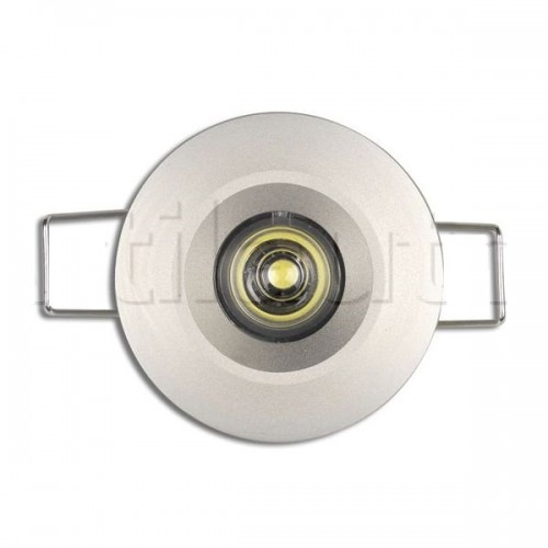 Plafonnier 1 Led - A encastrer - 9/33 Volts - ø 50 mm 9/33V ROND 1 LED