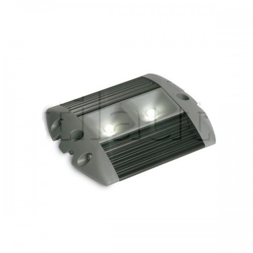 Plafonnier 2 Leds - A poser - 10/32 Volts - L 128 x l 100x Ep 15 mm - IP67