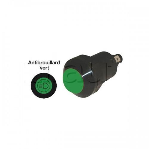 Interrupteur / Contacteur à bouton poussoir - Haute performance VERT 12V.