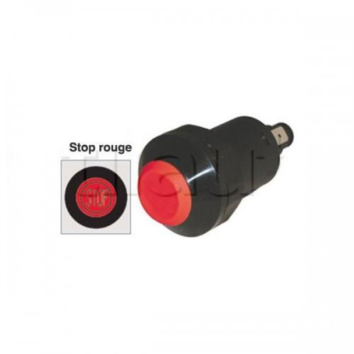 Interrupteur / Contacteur à bouton poussoir - Haute performance STOP 24V