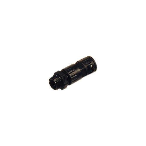 RACCORD DROIT MALE-NU+P.E.-GAINE 15.8MM/12MM-FILETAGE PG11-NOIR-ADR--