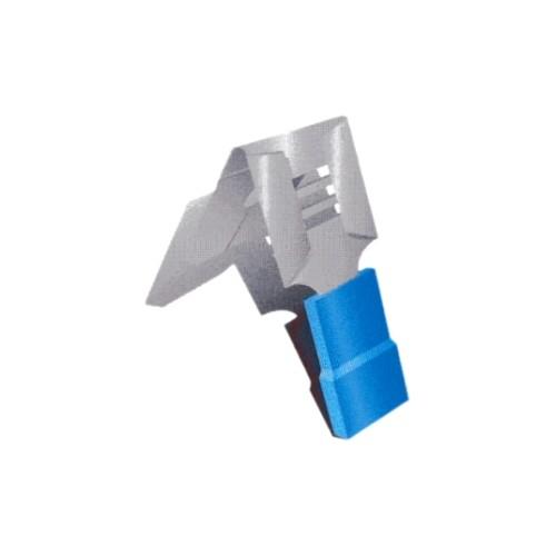COSSE PRE ISOLEE BLEUE CLIPS MAL/FEM 6.3MM-CABLE 2.5MM2-VENDU PAR 100