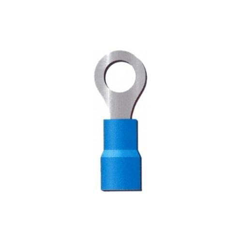 COSSE PRE ISOLEE BLEUE A OEIL VIS M08-CABLE 2.5MM2-VENDU PAR 100