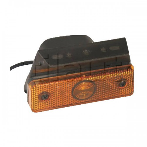 Feu latéral orange Flatpoint aspock à Leds sur patte equerre - 95 x 55 x 74 mm - 24 Volts