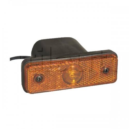 Feu latéral orange Flatpoint aspock à Leds à encastrer - 96 x 31 x 78 mm - 24 Volts