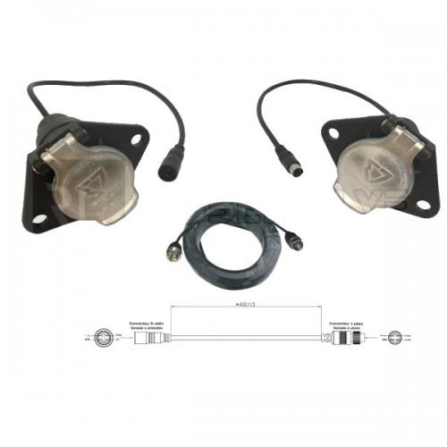 Liaison semi-remorque pour kits de rétrovision réf.