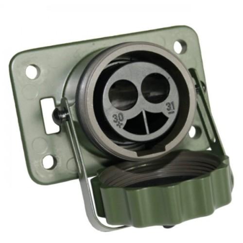 "SOCLE""OTAN"" 2 POLES / 24V-CONTACT 35/50MM2 - A SOUDER/SERTIR - VG96917 - VERT"
