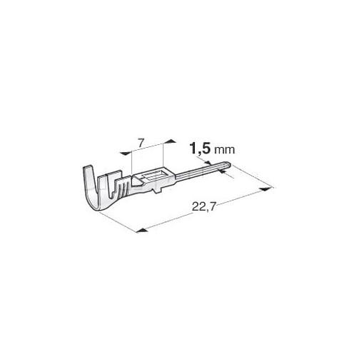 Cosse pour connecteurs SUPERSEAL standard - Cuivre étamé - Pour câble 1 à 1.5 mm²