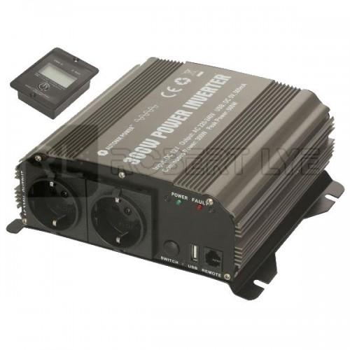 Elévateurs / convertisseurs de tension 24V à 230 Volts 1500/3000W PUR SINUS