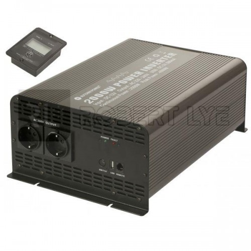 Elévateurs / convertisseurs de tension 24V à 230 Volts 2000/4000W PUR SINUS