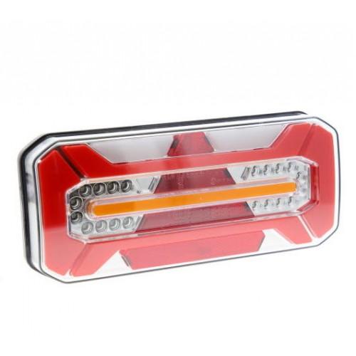 Feu arrière pour remorque à Leds - 12/24 Volts - L 306 x l 133 x Ep 61 mm - IP68