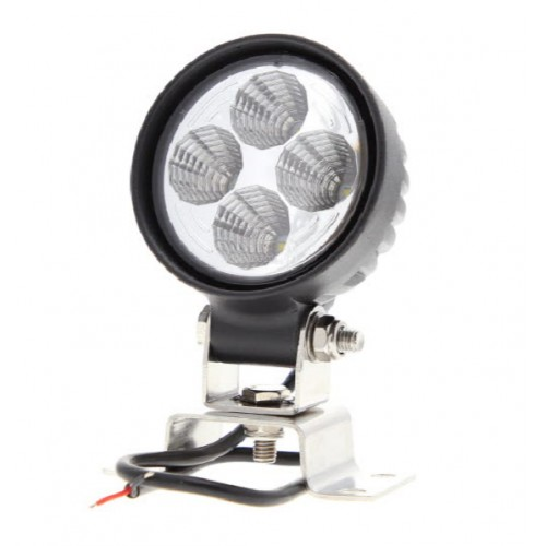 Phare de travail rond 4 leds - 10/30 Volts - ø 84 x H 111 x Ep 65 mm - IP68