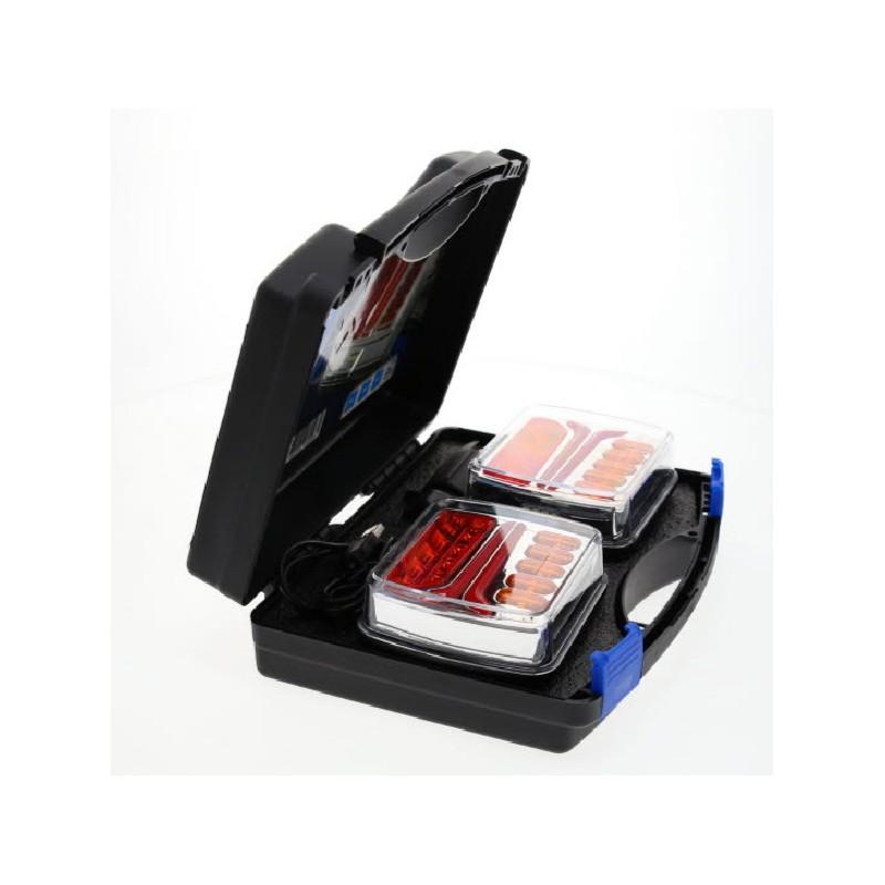 Kit d'éclairage de 2 feux sans fil pour remorque