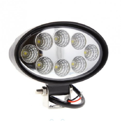 Phare de travail ovale 8 leds - 10/30 Volts 1920 LUMENS