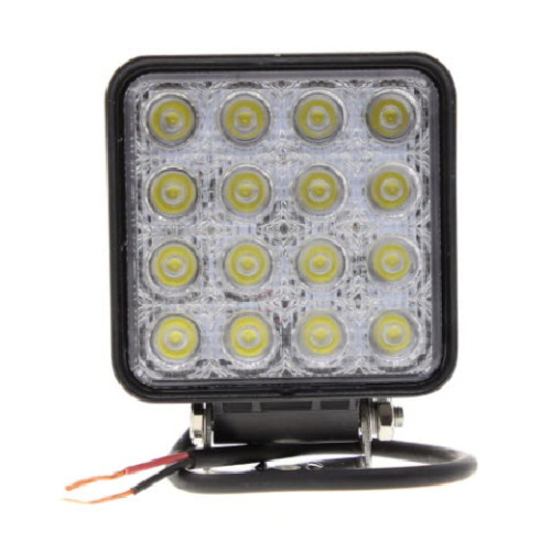 Phare de travail carré 16 Leds - 4000 Lumens - 10/30 volts - L 110 x H 164 x Ep 72mm - IP67