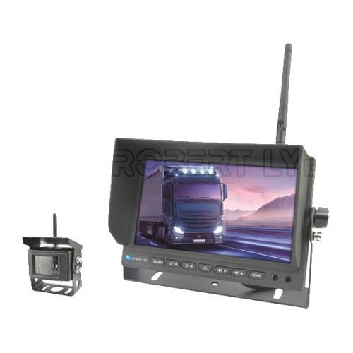 Kit de rétrovision sans fil avec 1 écran 7 pouces et 1 caméra - 4 entrées vidéo