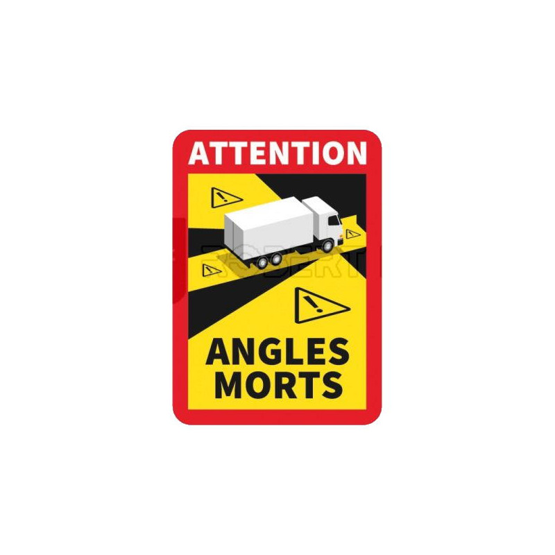 Adhésif/Autocollant Signalisation angles morts pour Poids Lourds
