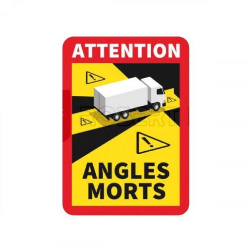Adhésif/Autocollant Signalisation angles morts pour Poids Lourds : sur support ALU pour Poids Lourds