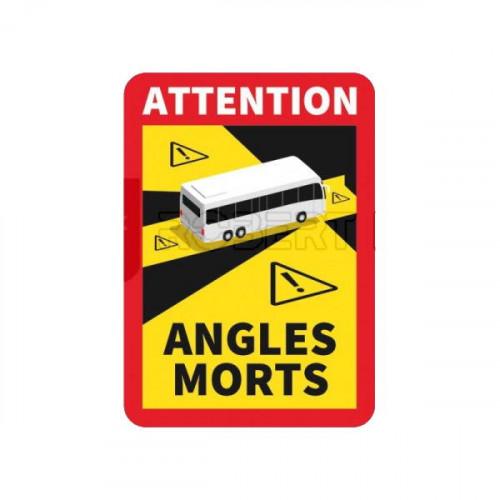 Adhésif/Autocollant Signalisation angles morts pour BUS