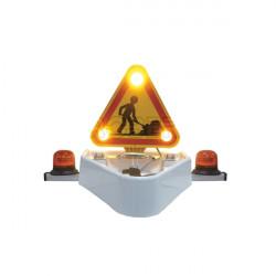 Combiné triangle triflash à Leds relevage électrique avec 2 feux flash à Leds Eurorot - 12/24 Volts