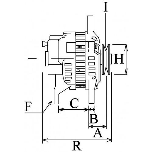 Alternateur 28 Volts 25 A, Chariot élévateur Komatsu, Isuzu 1-81200-205-0, Krauf ALK1116