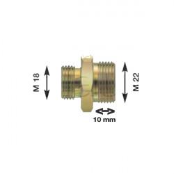 Olivette raccord pour flexibles air M22 X 1.5 Longueur filetage 10 mm