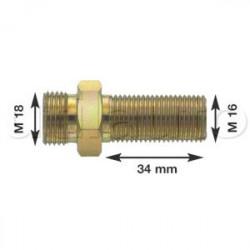 Olivette raccord pour flexibles air M16 X 1.5 Longueur filetage 34 mm